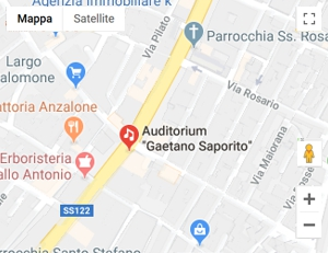 Mappa Auditorium Saporito - San Cataldo (CL)