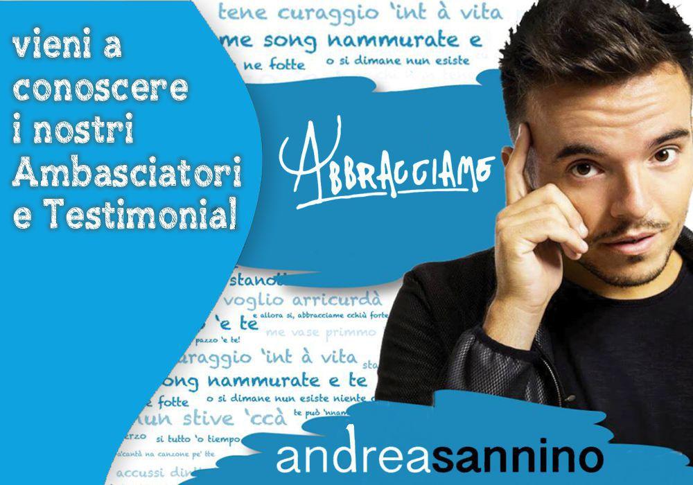 Andrea Sannino - Testimonial Conadi - Cantante